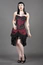 Burgundy Taffeta Elvira Skirt